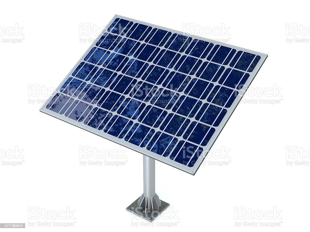 Solar panel isolated on white background stock photo