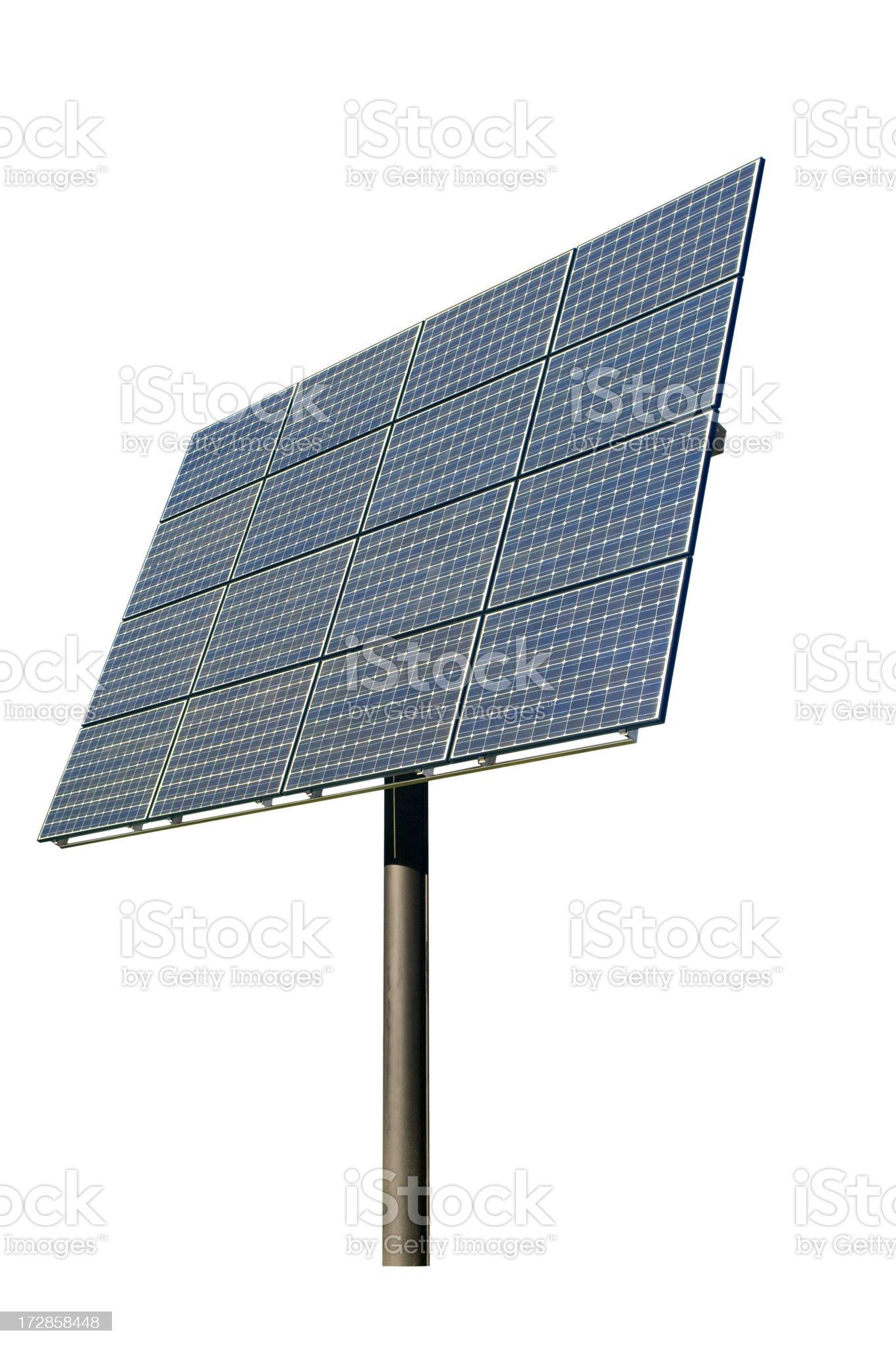 Solar Panel Isolated On White royalty-free stock photo
