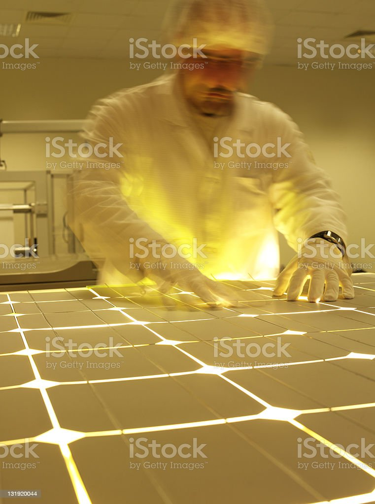 solar panel manufacturing royalty-free stock photo