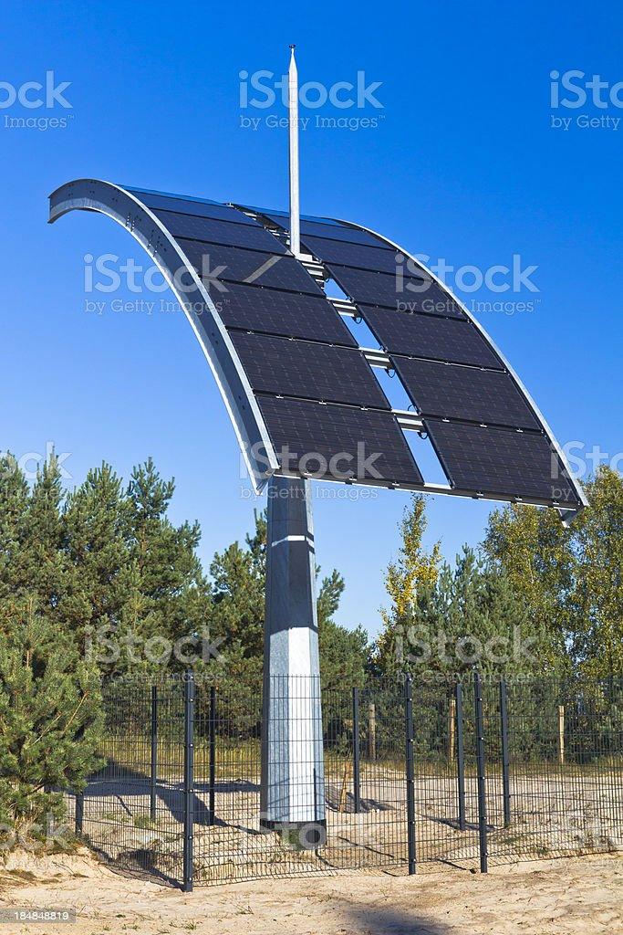 Solar panel on pole stock photo