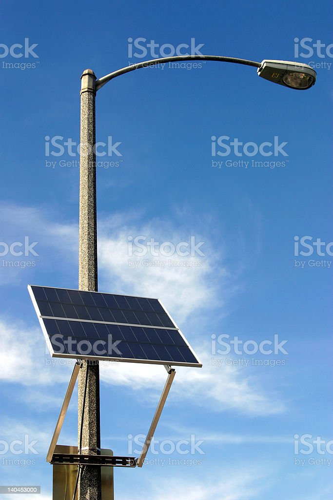 Solar panel on the pole royalty-free stock photo