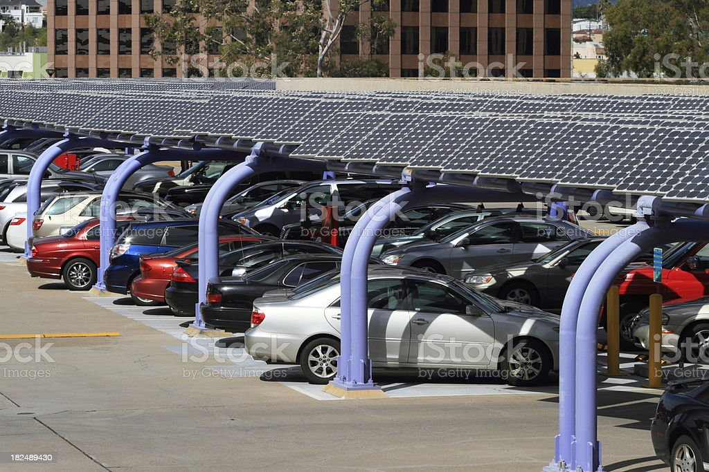 Solar Panel Parking Structure royalty-free stock photo