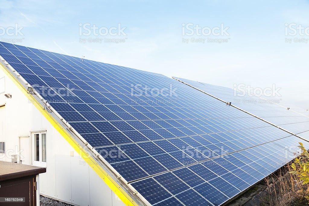 solar panel roof royalty-free stock photo