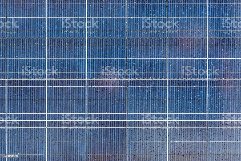 Solar panel surface closeup outdoor stock photo