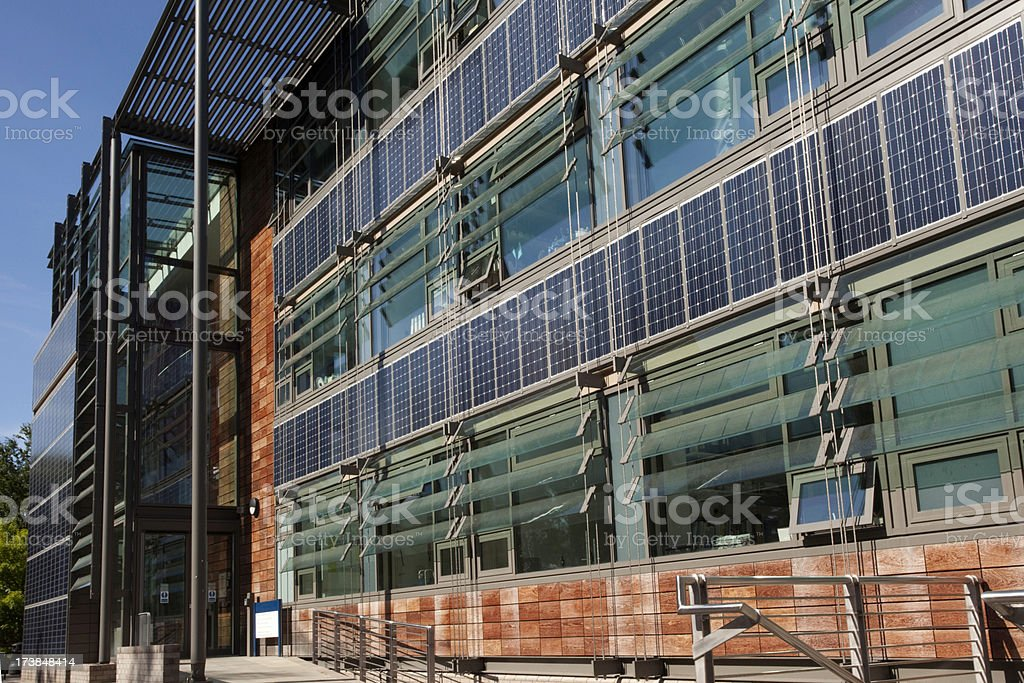 Solar panelled office royalty-free stock photo