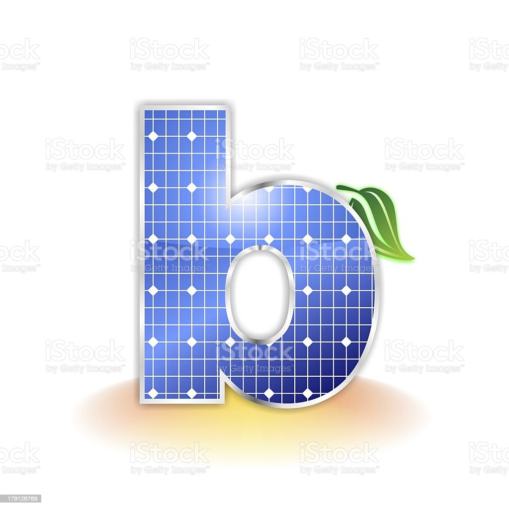 solar panels alphabet letter b royalty-free stock photo