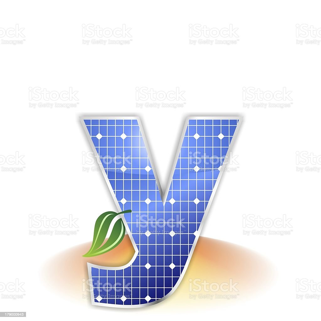 solar panels alphabet letter y royalty-free stock photo