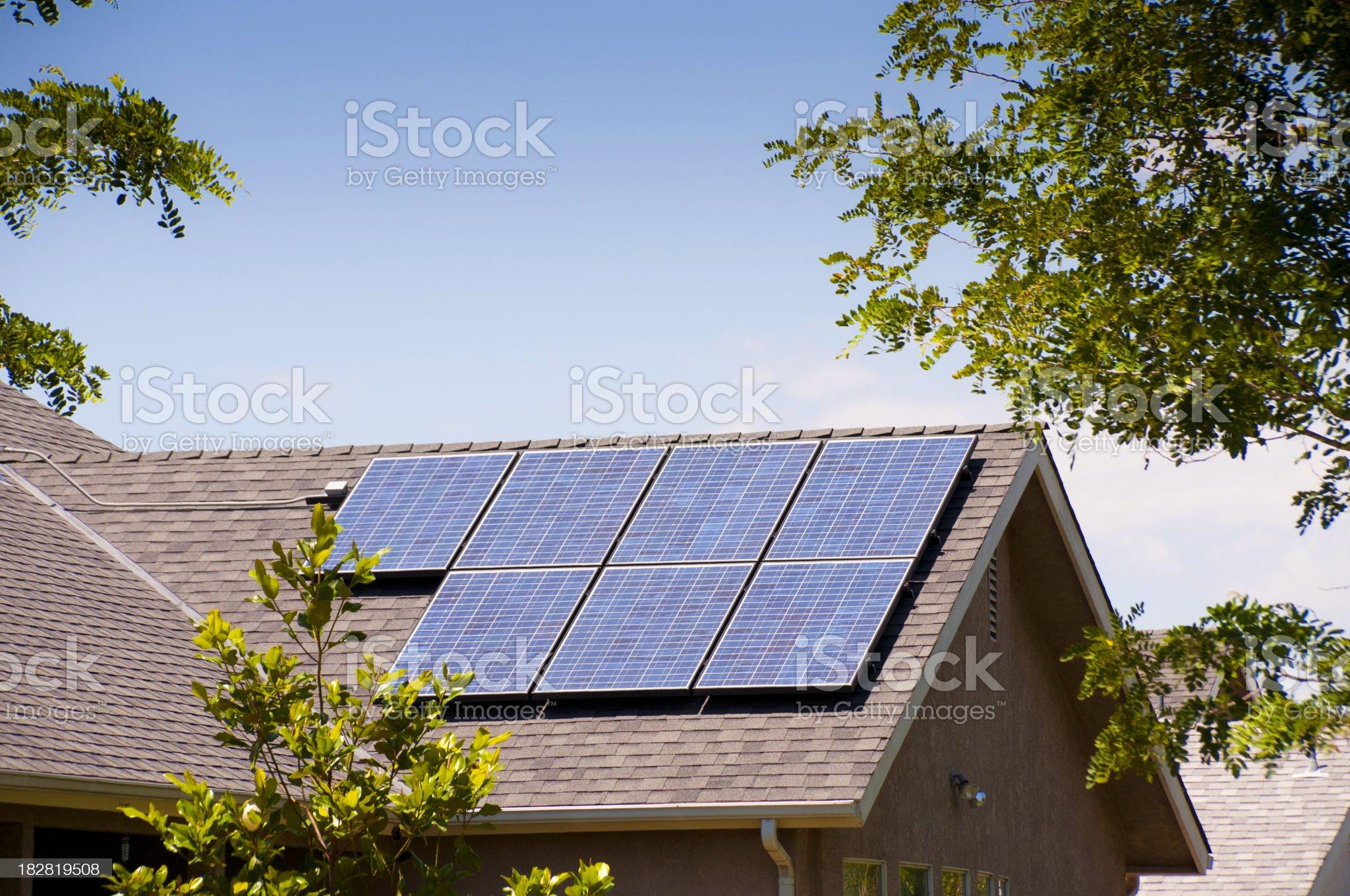 Solar Panels Back View royalty-free stock photo