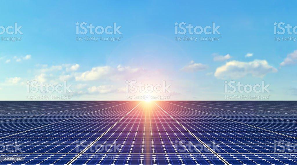 Solar Panels - Background stock photo