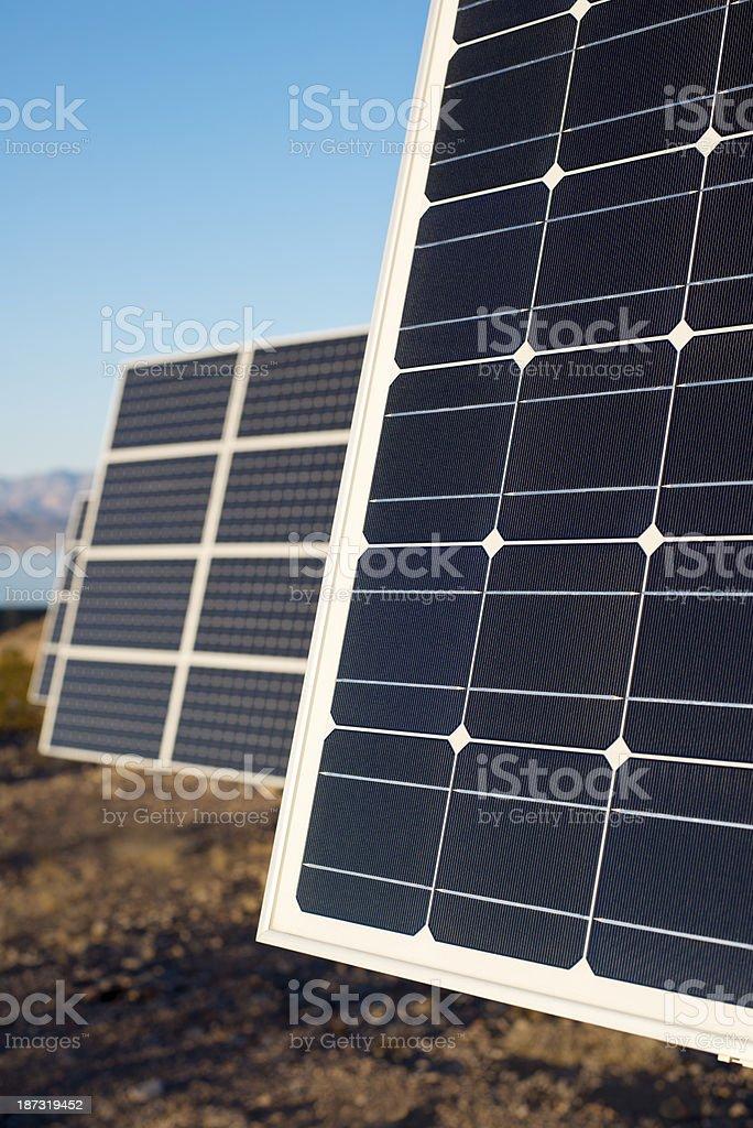 Solar Panels in Arizona desert royalty-free stock photo