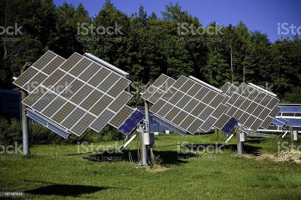 Solar Panels in Nature 01 royalty-free stock photo