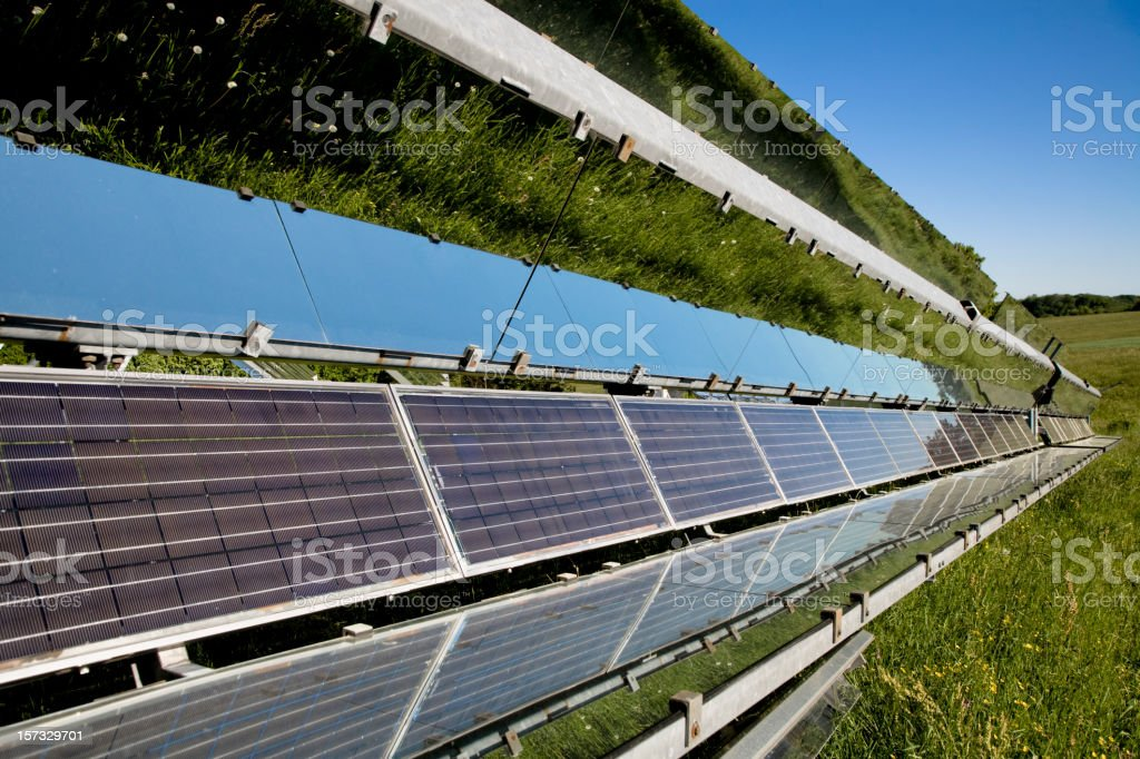 Solar Panels in Nature stock photo