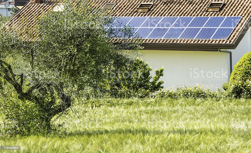 Solar Panels in the Nature royalty-free stock photo