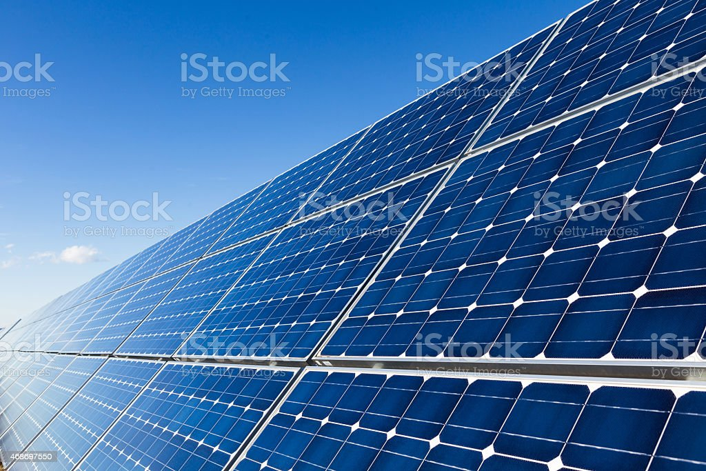 Solar panels installation, closeup stock photo