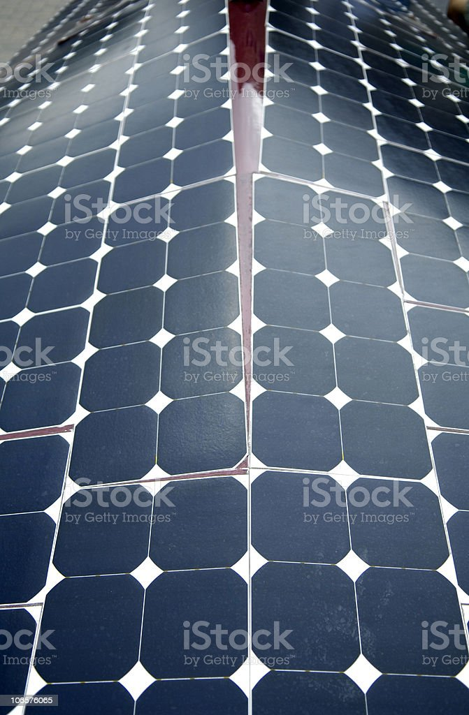 Solar Panels on a Vehicle stock photo