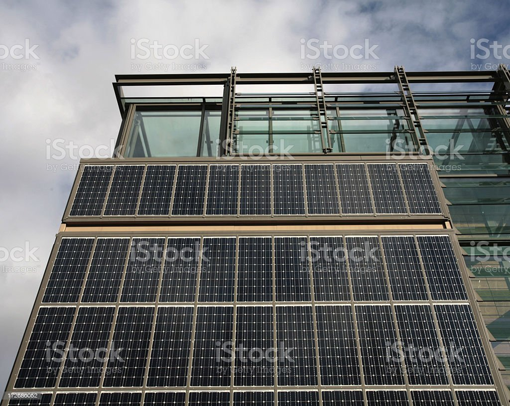 Solar panels on building. royalty-free stock photo