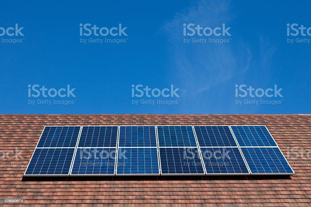 Solar Panels on Environmentally Friendly Housing stock photo