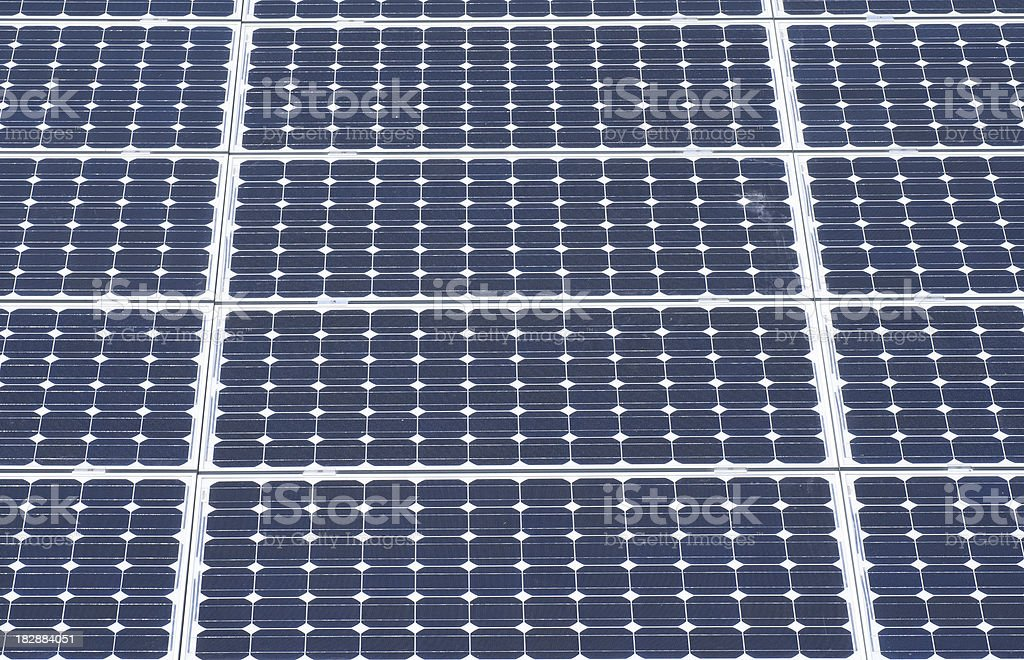 Solar Panels on roof royalty-free stock photo