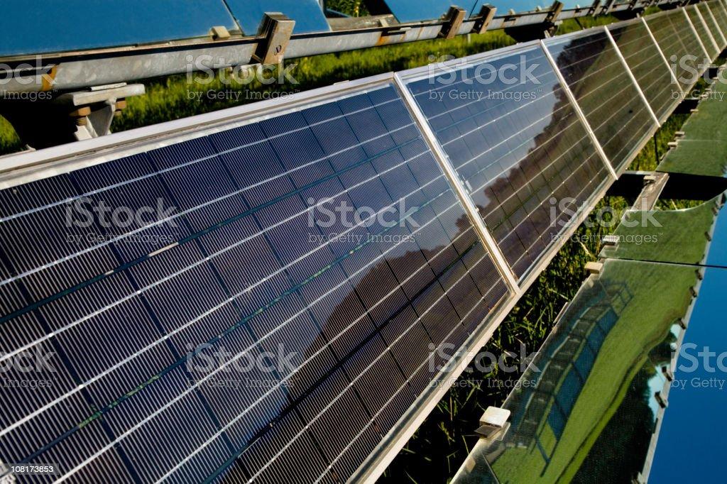 Solar Panels on Sunny Day stock photo