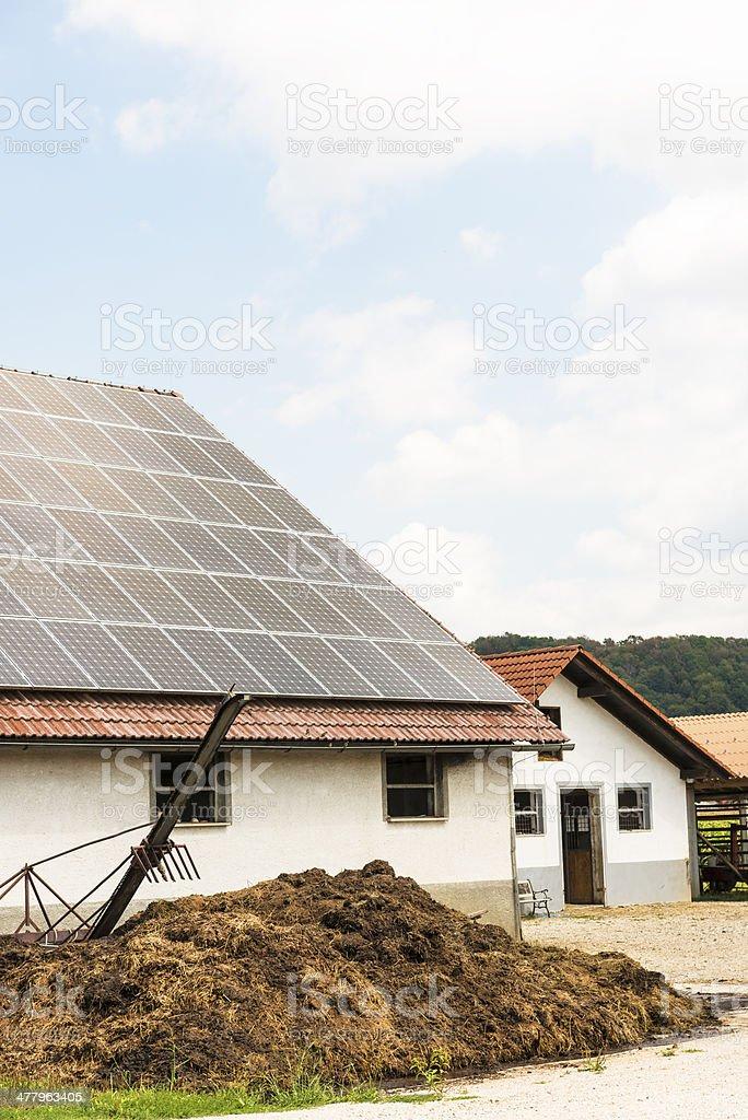 Solar panels on the farm royalty-free stock photo