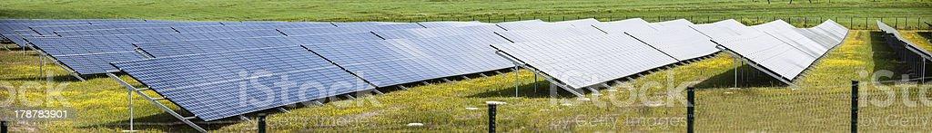 Solar panels panorama royalty-free stock photo