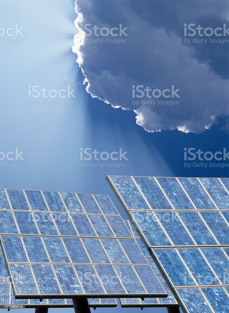 Solar panels (image size XXL) stock photo
