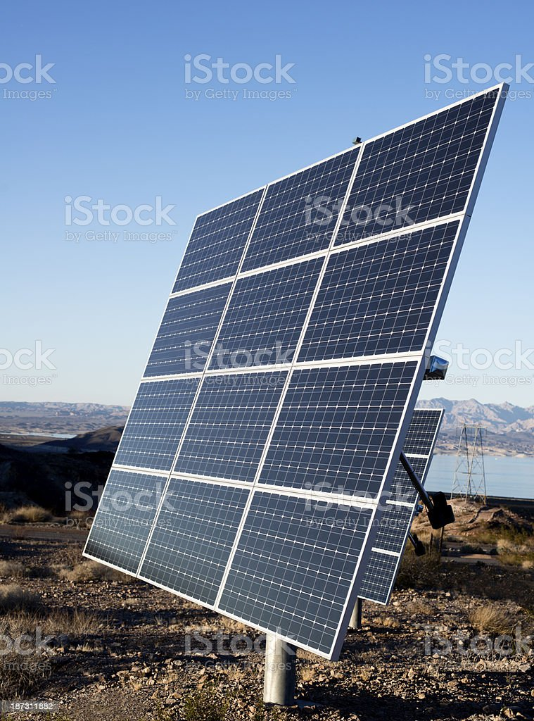 Solar Panels with Blue Sky royalty-free stock photo