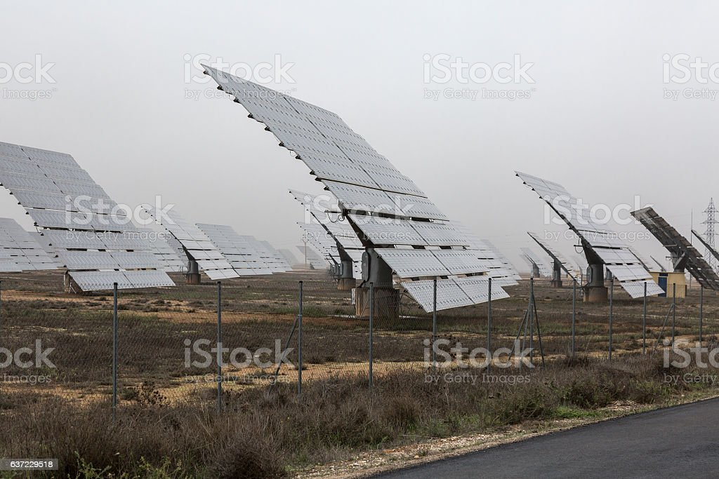 Solar park stock photo