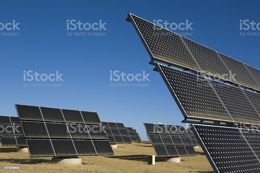 Solar Photovoltaic Panels royalty-free stock photo