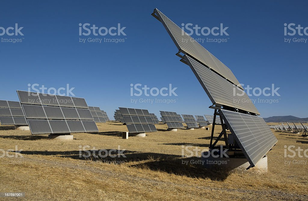 Solar Photovoltaic Plant royalty-free stock photo