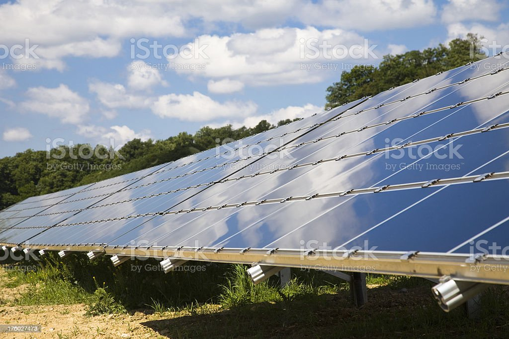 Solar Plant in the Countryside royalty-free stock photo