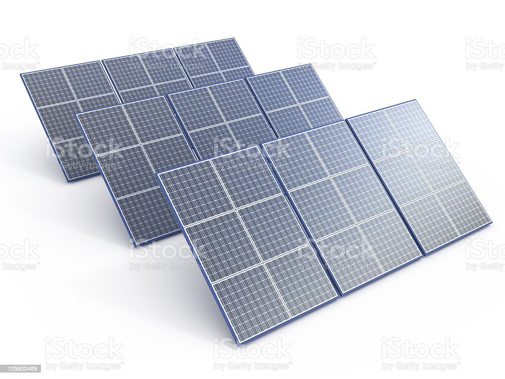 Solar plant vector art illustration