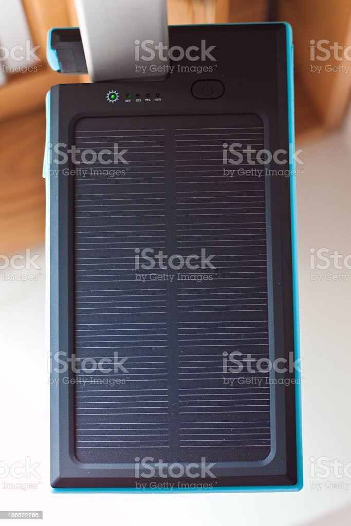 Solar power bank for phones and more stock photo