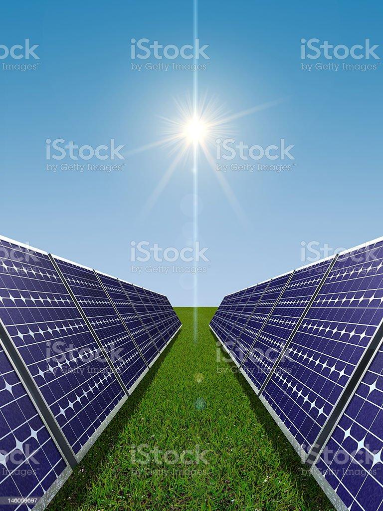 Solar power concept royalty-free stock photo