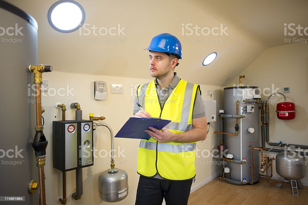 solar power engineer royalty-free stock photo