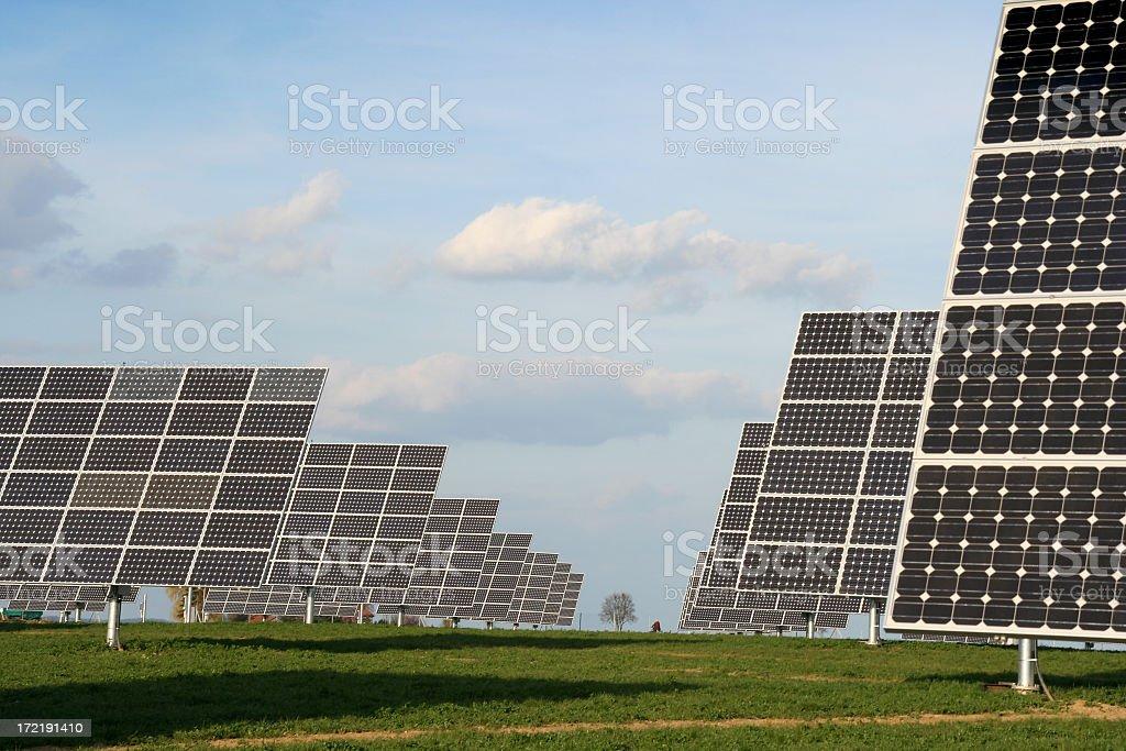 Solar Power Field royalty-free stock photo