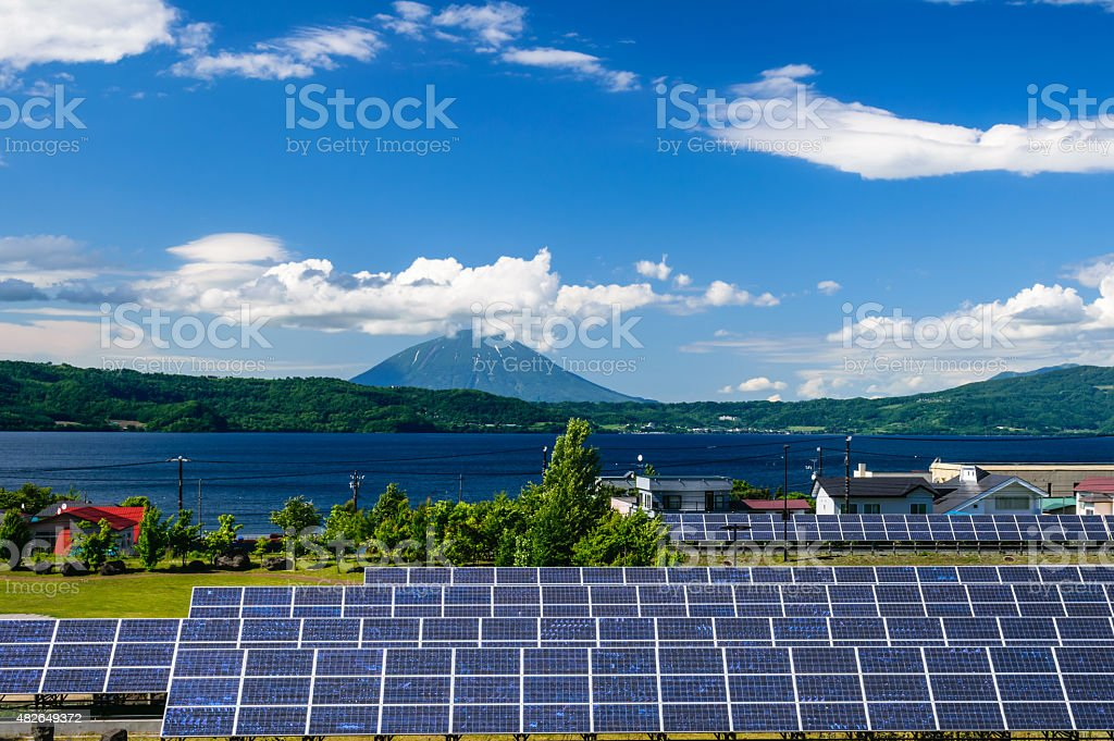 solar power for cocept of sustainable green energy stock photo