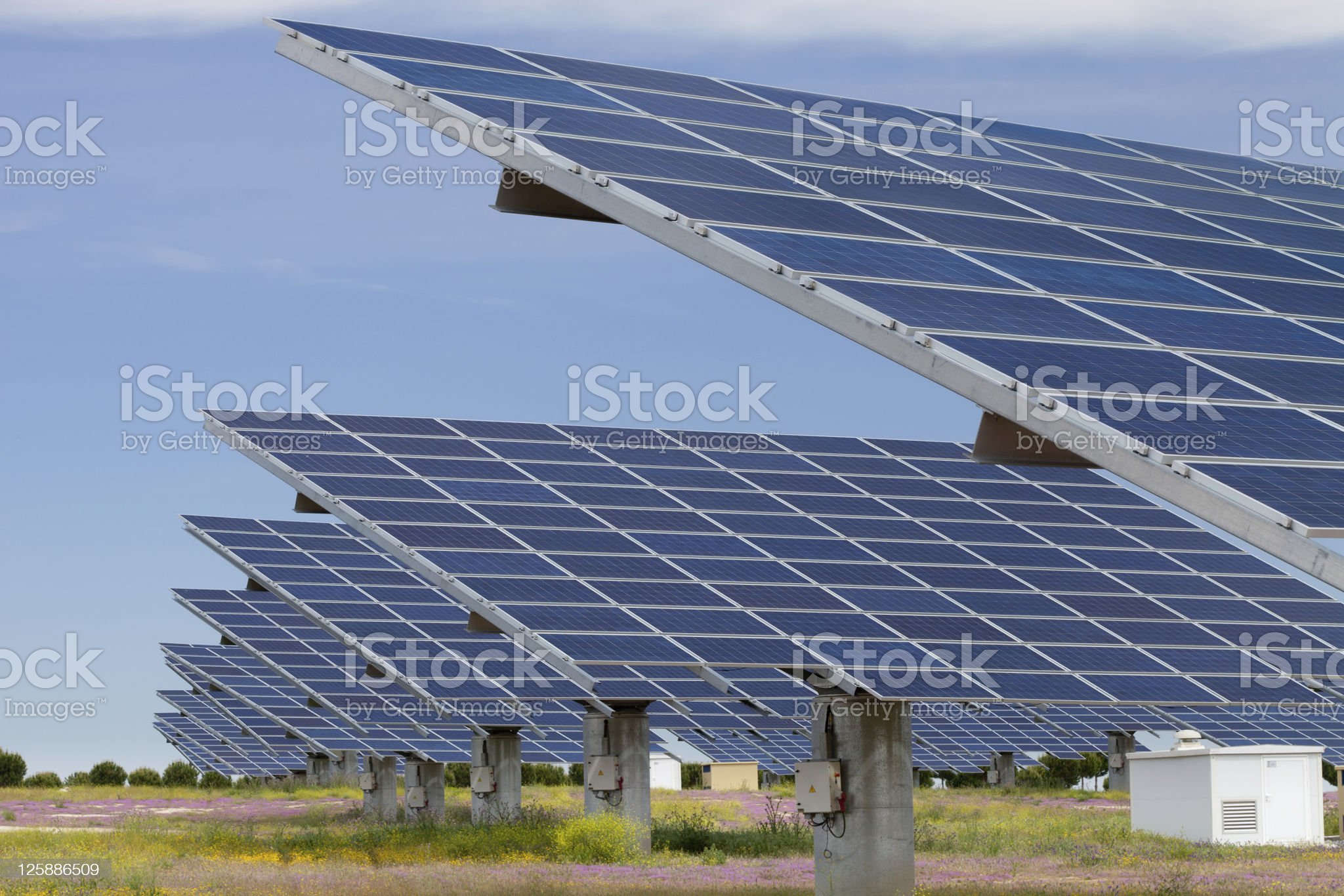 Solar power generation royalty-free stock photo