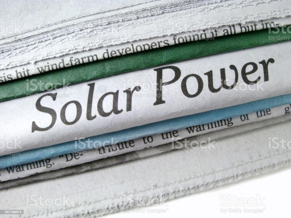 Solar Power Headline stock photo