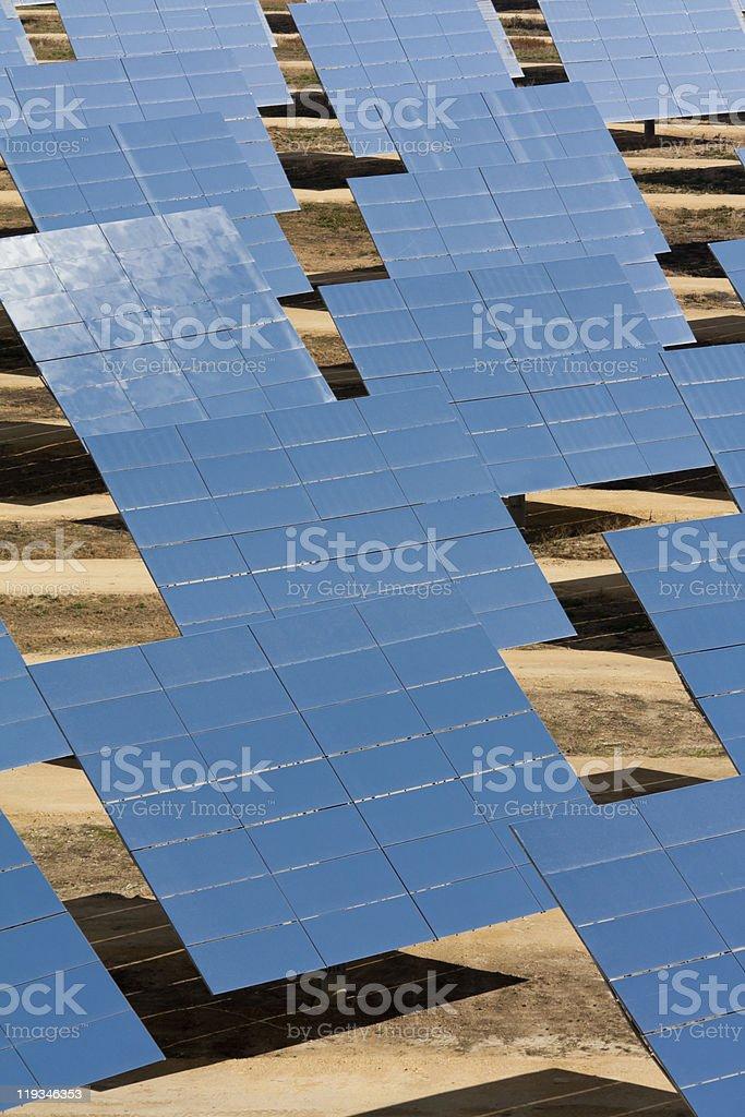 Solar Power Heliostats stock photo