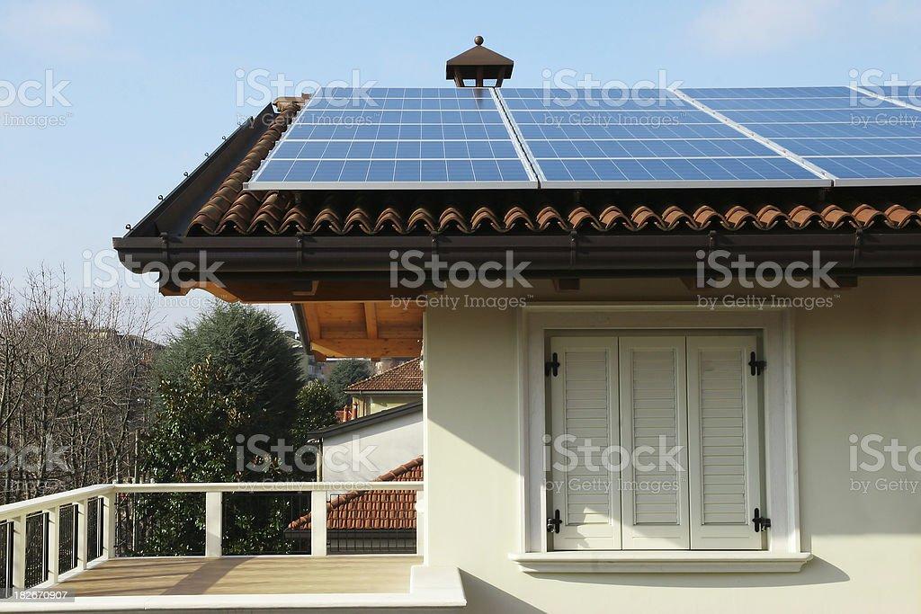 Solar power house royalty-free stock photo