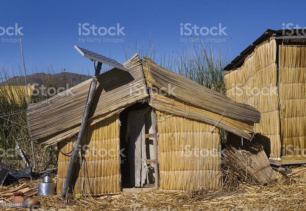 Solar Power on Lake Titicaca royalty-free stock photo