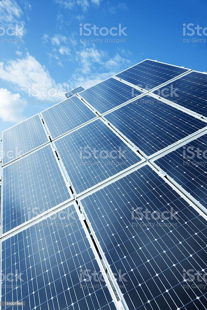 Solar Power Panels Against Blue Sky royalty-free stock photo