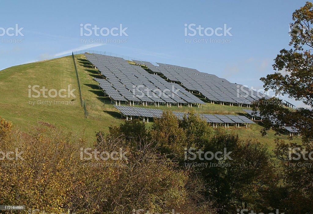 solar power panels stock photo