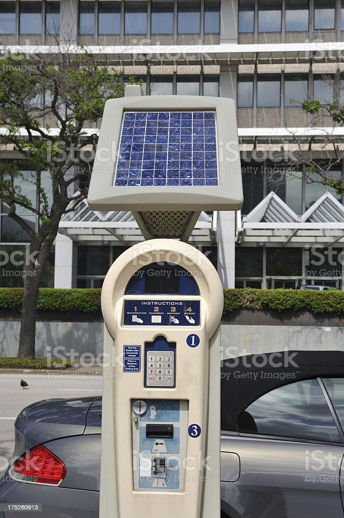 Solar Power Parking Meter royalty-free stock photo