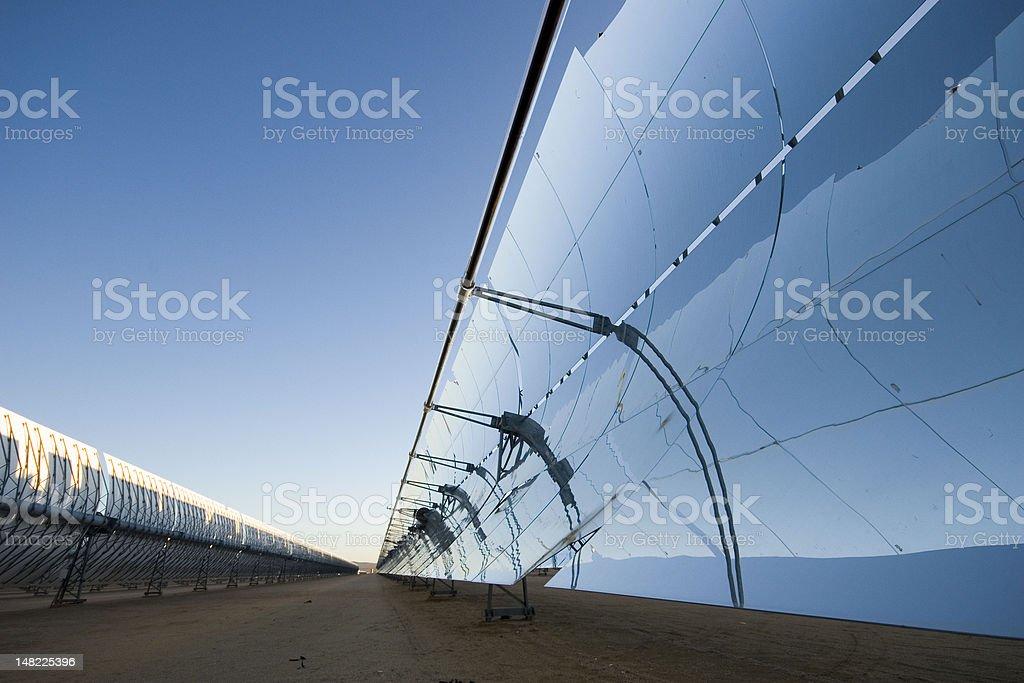 Solar Power Plant Panels royalty-free stock photo