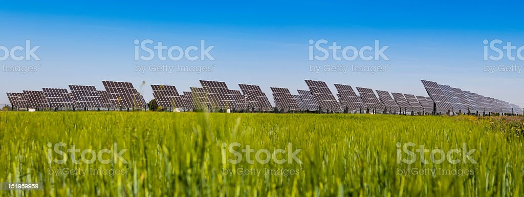 Solar power plant Panorama stock photo