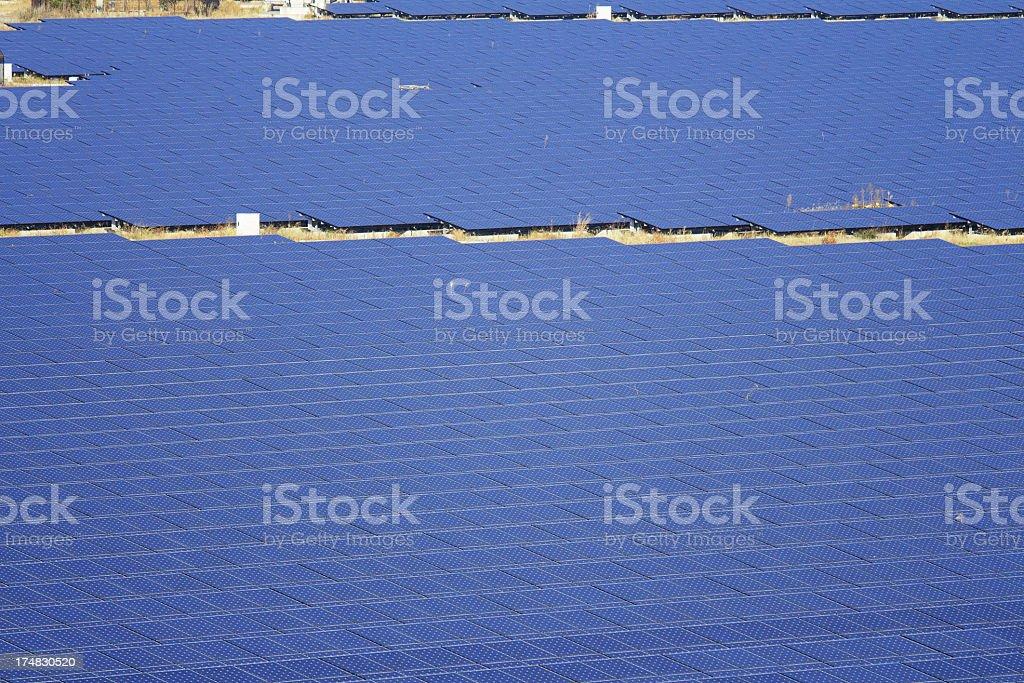 Solar power plant stock photo