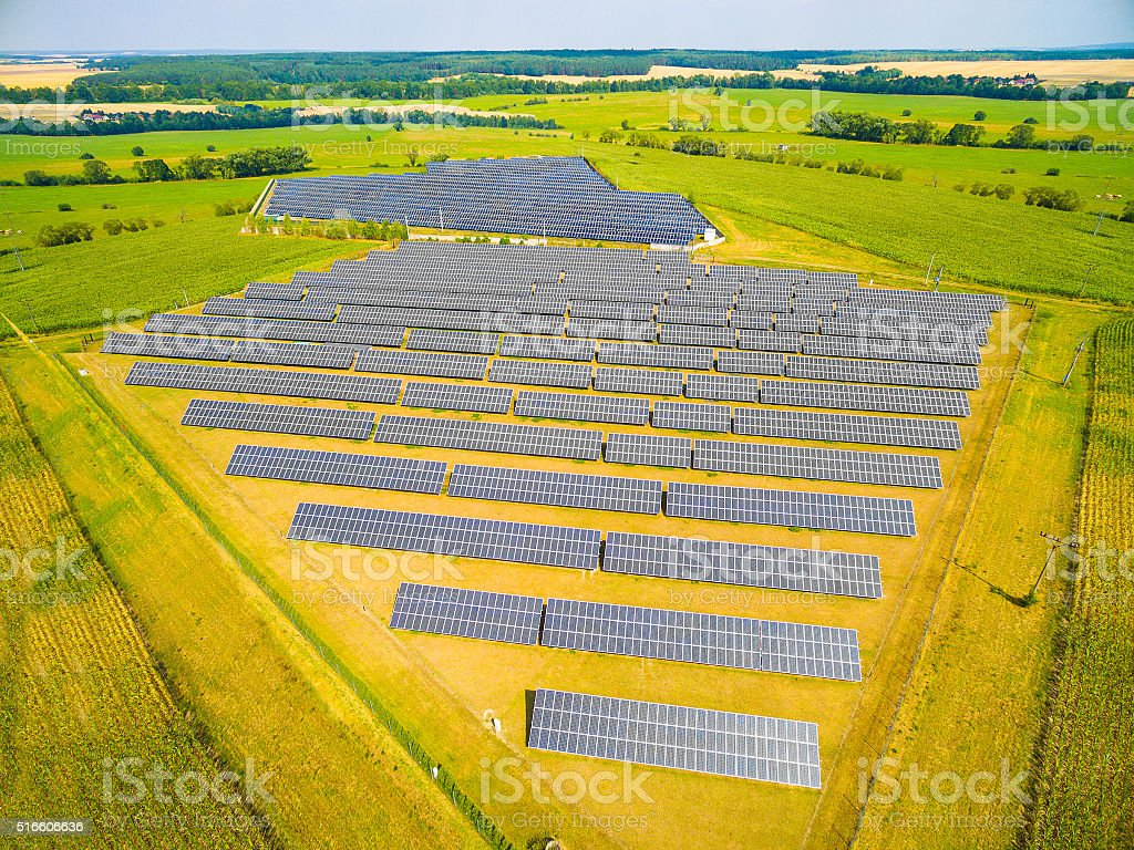 Solar power plant. stock photo