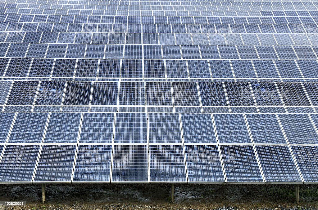 Solar power plant using renewable royalty-free stock photo